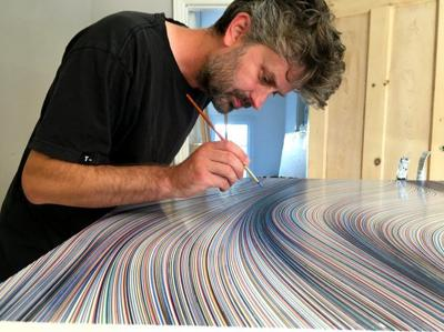 Line By Line: British duo bring ballpoint pen art to Echo Park
