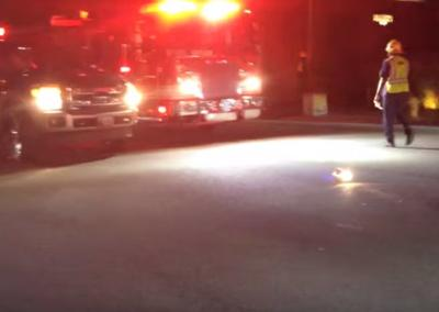 Silver Lake pedestrian hit crossing Rowena