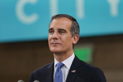 Mayor Eric Garcetti during the 2020 State of the City Address
