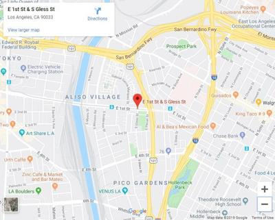 Google map of 1st and Gless streets