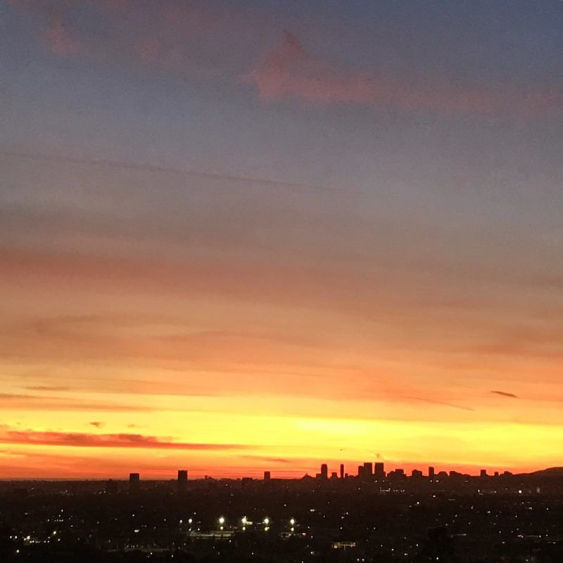 Saturday ends with a stunning L.A. sunset