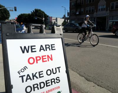 We Are Open Take Out Orders Sign Echo Park