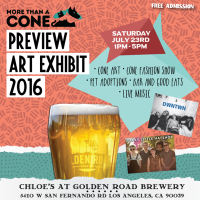 More Than A Cone's Preview Art Exhibit 2016