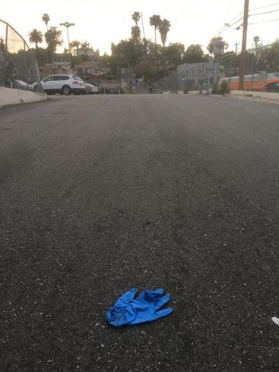 Glove in Vons Echo Park parking lot
