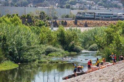 LA River kayaks