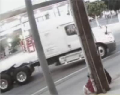 Semi-truck of hit-and-run suspect in Boyle Heights