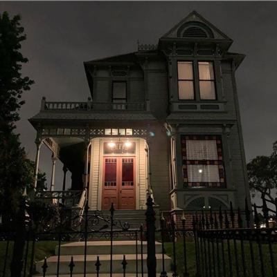 Angelino Heights Victorian at night