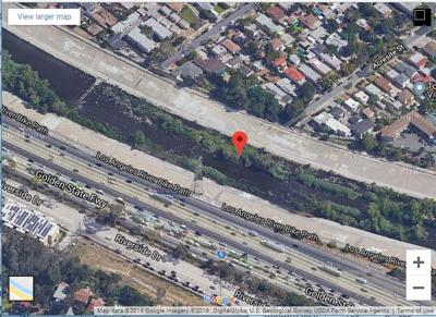 Google Map of L.A. River rescue site in Atwater Village