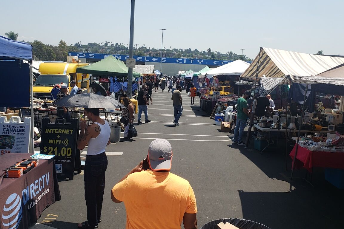 Swap Meet with City College Sign