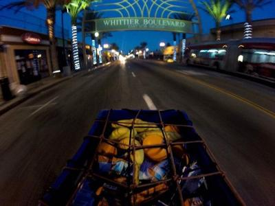 Delivering food to East LA homeless