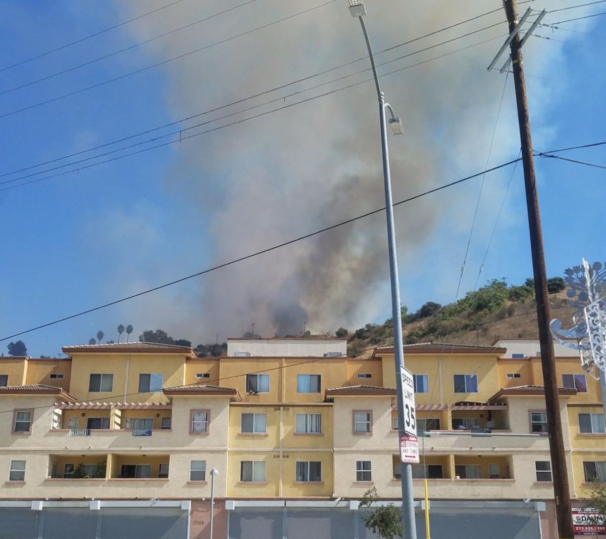 Smoke from El Sereno fire