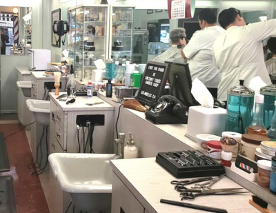 Sweeney Todd's, a barber shop straight from the 1950s