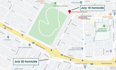 Boyle Heights murder map