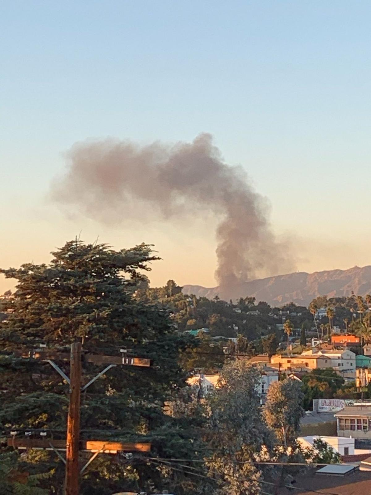 Smoke from Atwater Village recycling yard fire