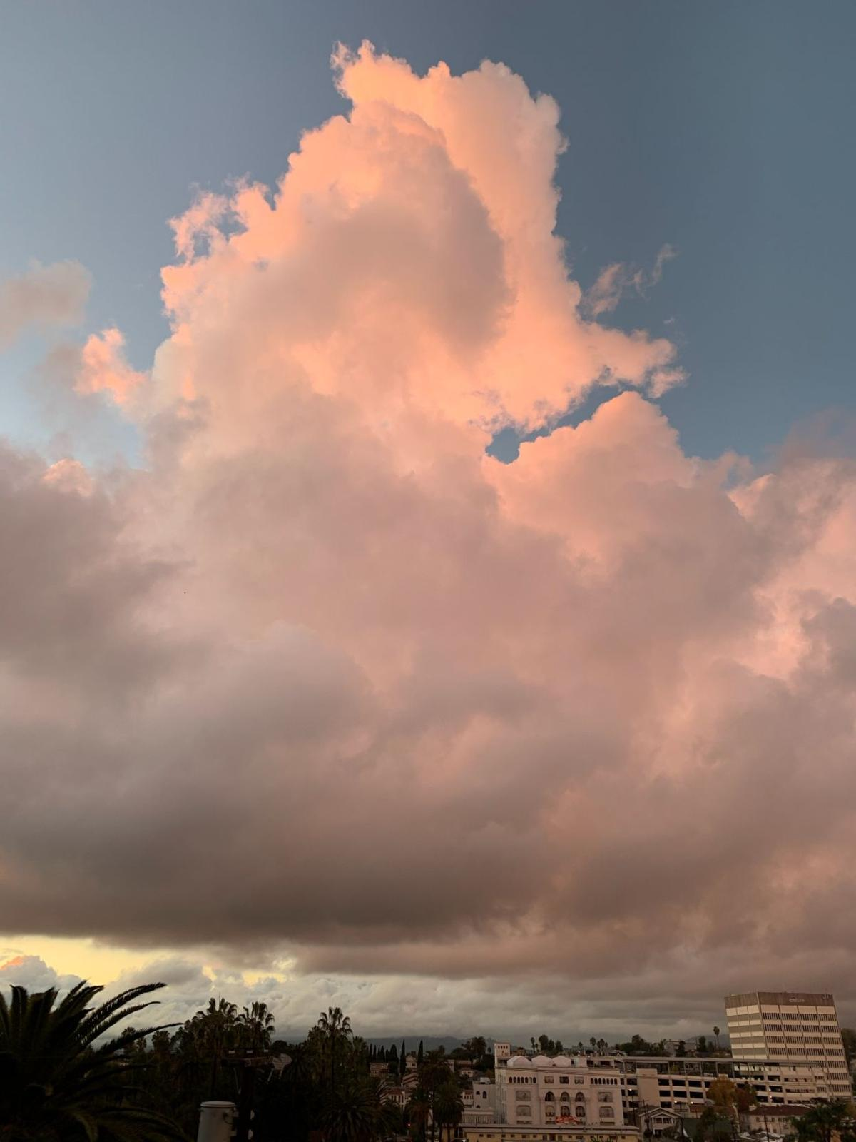 Pink Clouds Over Echo Park