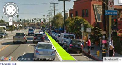 Will Sunset Boulevard bike lanes go green?