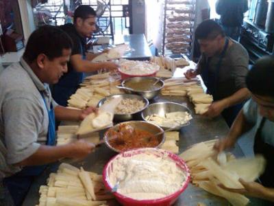 Echo Park tamale makers working overtime