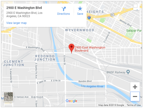 Google map of 2900 e washington blvd boyle heights