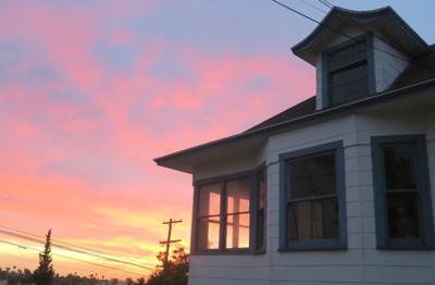 Pastel skies over Echo Park