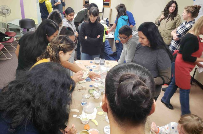 East Hollywood prepares for new park and community garden – by painting mosaic tiles