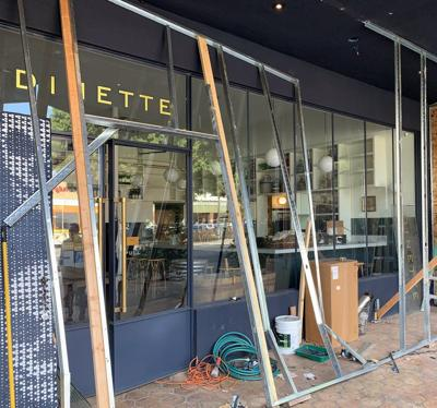 Dinette under construction in Echo Park
