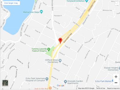 Map of motorcycle crash on 2 freeway