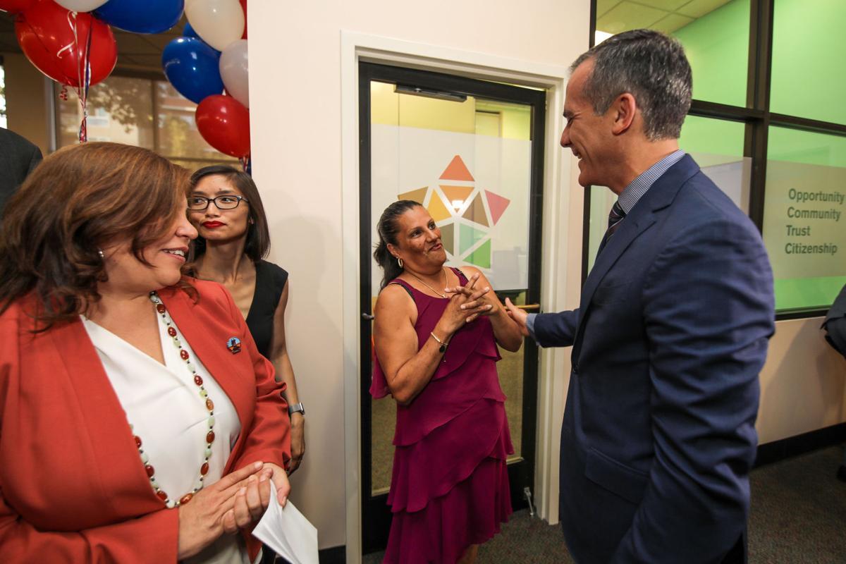 Mayor Eric Garcetti at New Americans Center in Echo Park