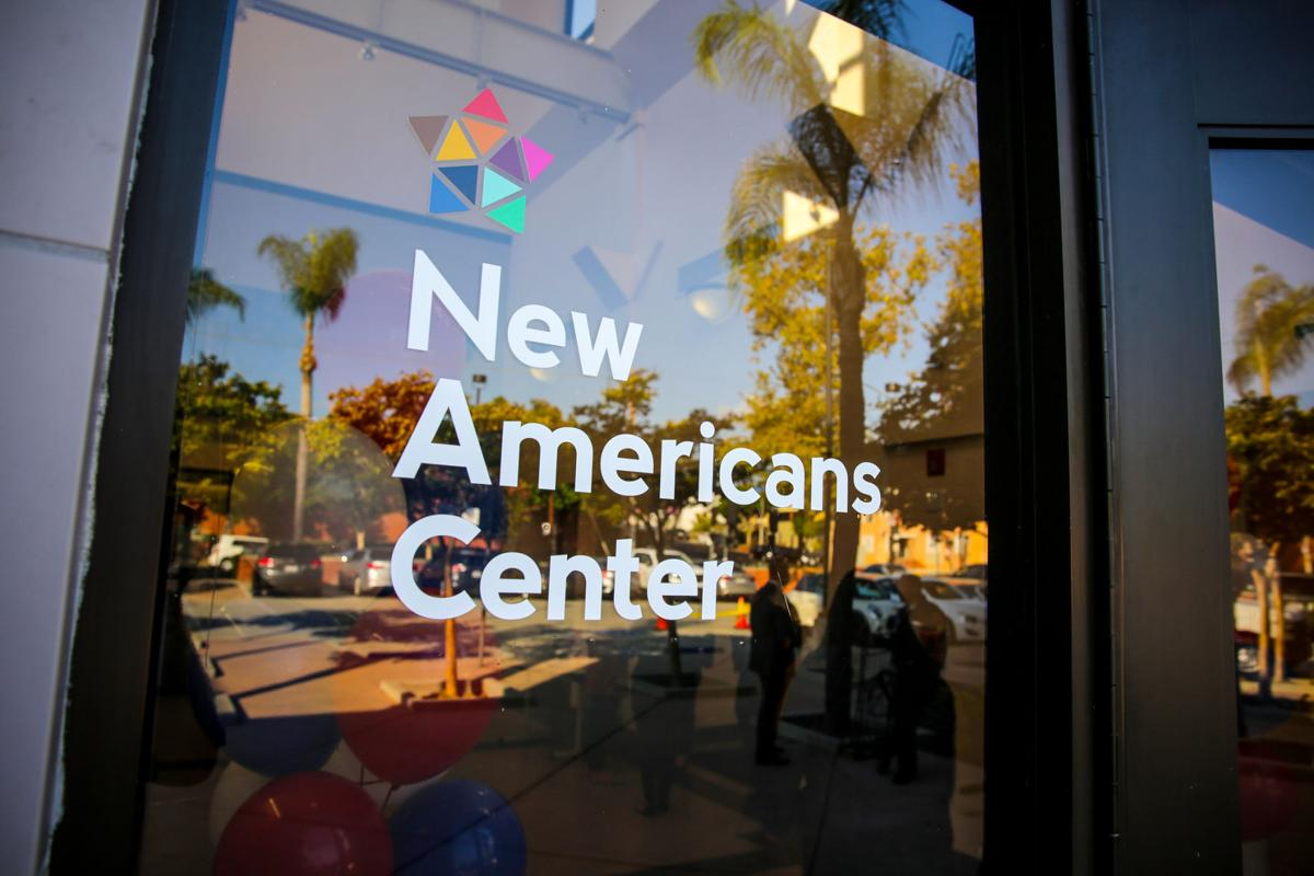 New Americans Center sign at Echo Park library