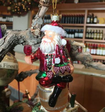 Christmas Ornament at the San Antonio winery