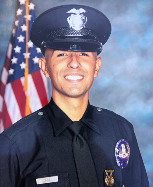 LAPD officer Juan Diaz