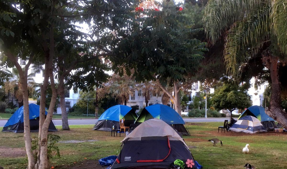 Echo Park Lake homeless encampment