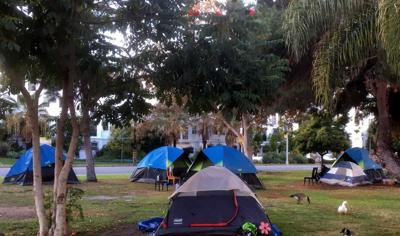Echo Park Lake homeless encampment