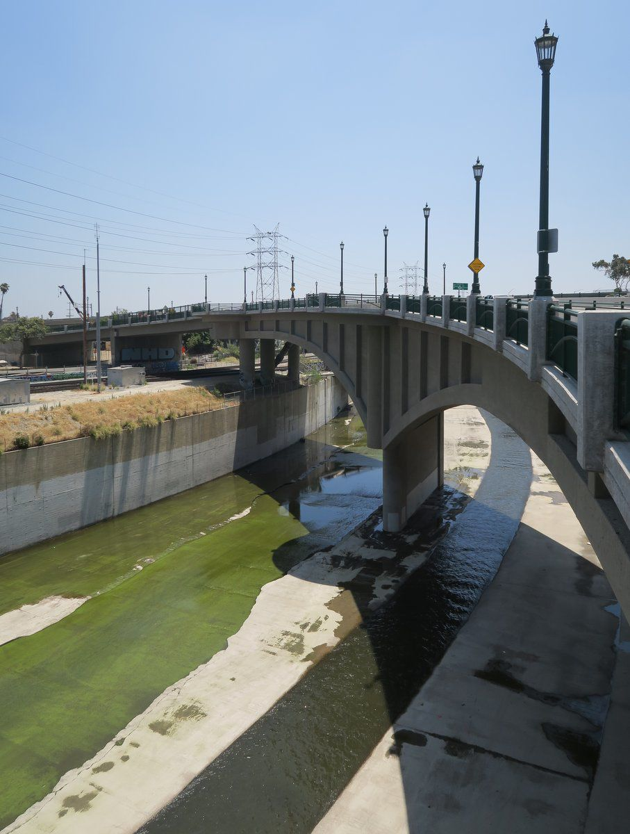 RIverside Figueroa Bridge over LA RIver Cypress Park