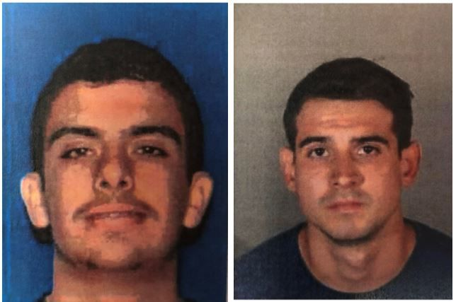 Booking photos of Eagle Rock Fire Suspects