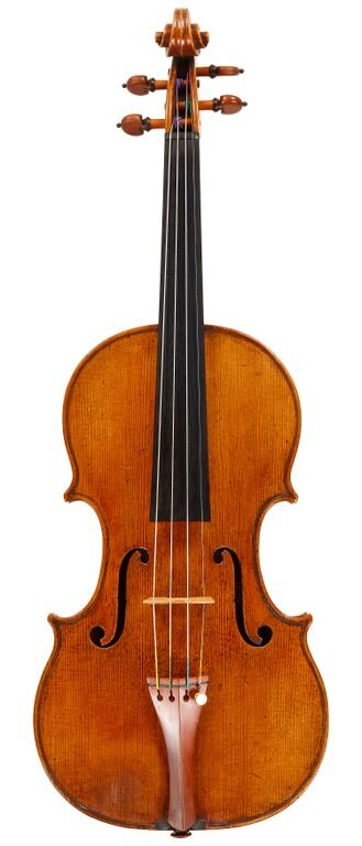 Front of stolen Amati violin