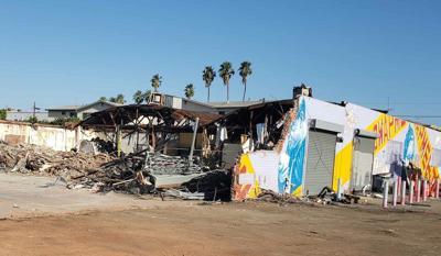 Partly demolished Union Swapmeet