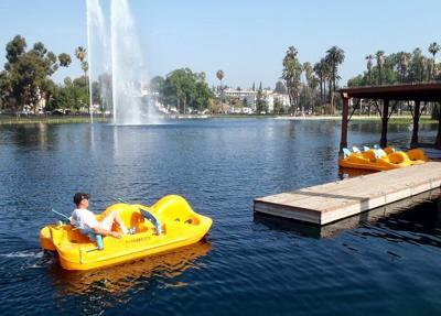New pedal boat fleet docks at Echo Park Lake