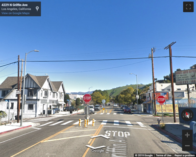 Google map of avenue 43 and griffin in montecito heights
