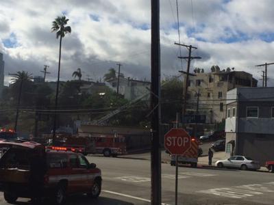 LAFD knocks down Echo Park area apartment fire