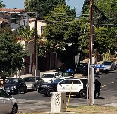 LAPD unit at Allesandro and Berkeley in Echo Park