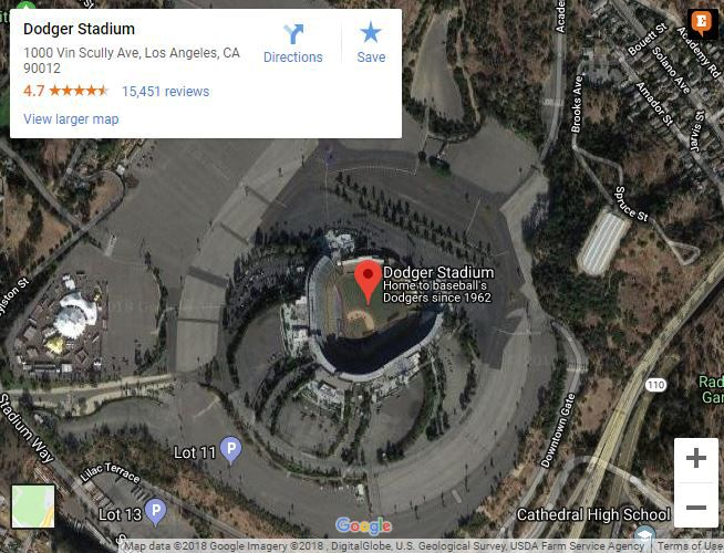 Dodger Stadium Parking Lot Map on