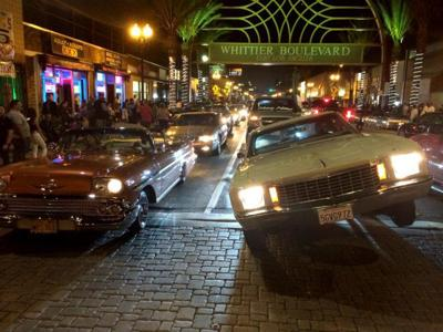Lowriders return to Whittier Boulevard for a Saturday night of cruising