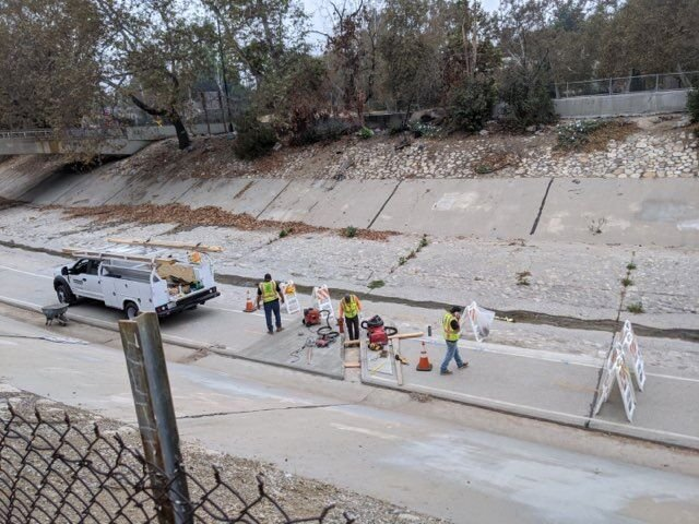 Arroyo-Seco Bike Path repair