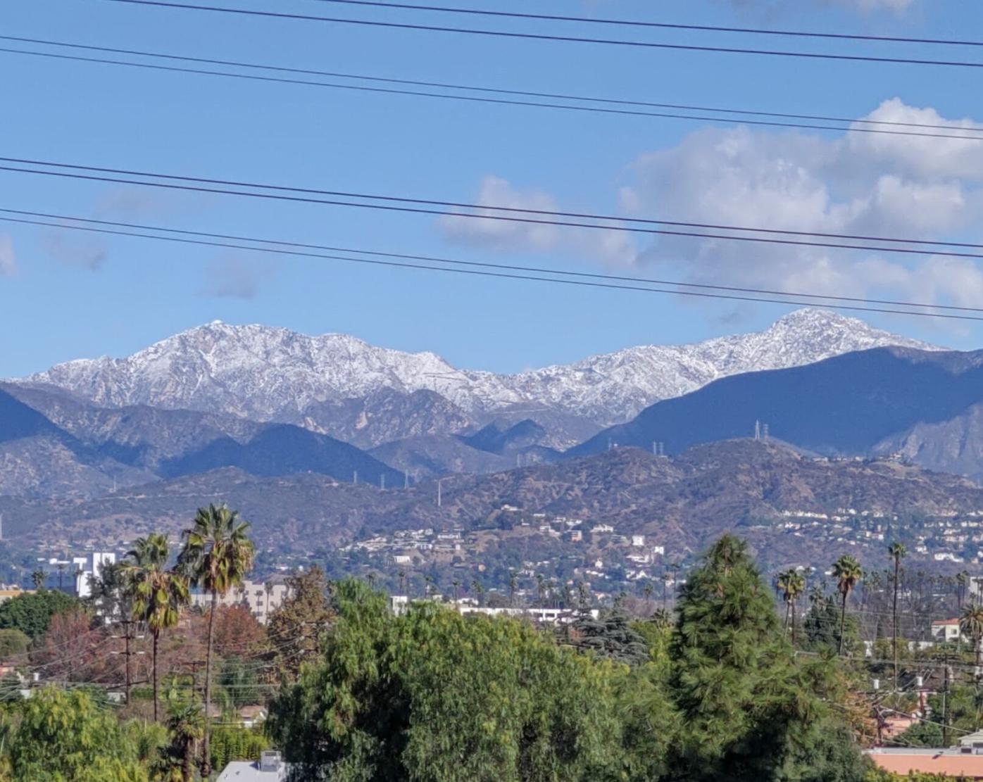 Snowy vista from Atwater Village