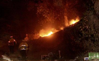 Eagle Rock brush fire burns near Occidental College [updated]