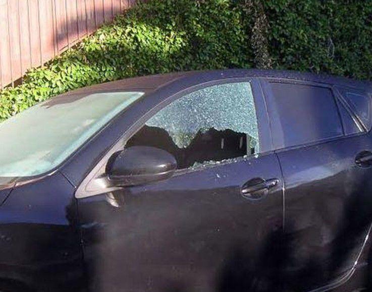 Broken vehicle window Echo Park