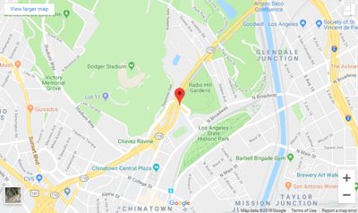 Google Map of Radio Hill Fire