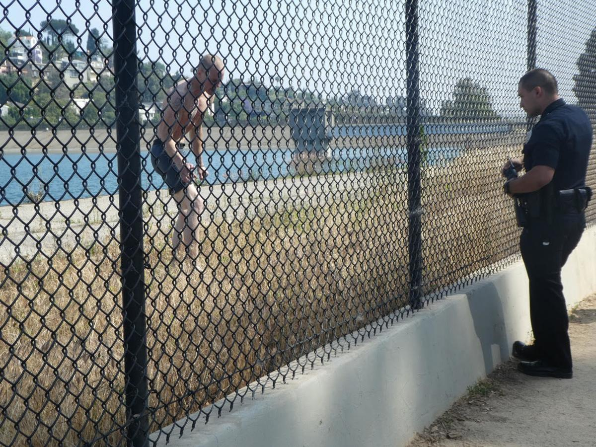 Man who went swimming in Silver Lake Reservoir Photos by Sandy Driscoll 6-4-2019 5-10-00 PM.jpg