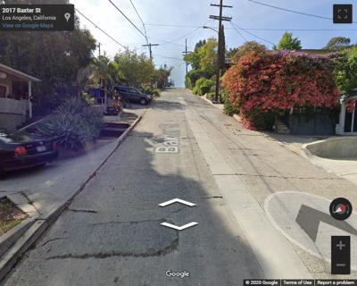 Google street view of baxter street