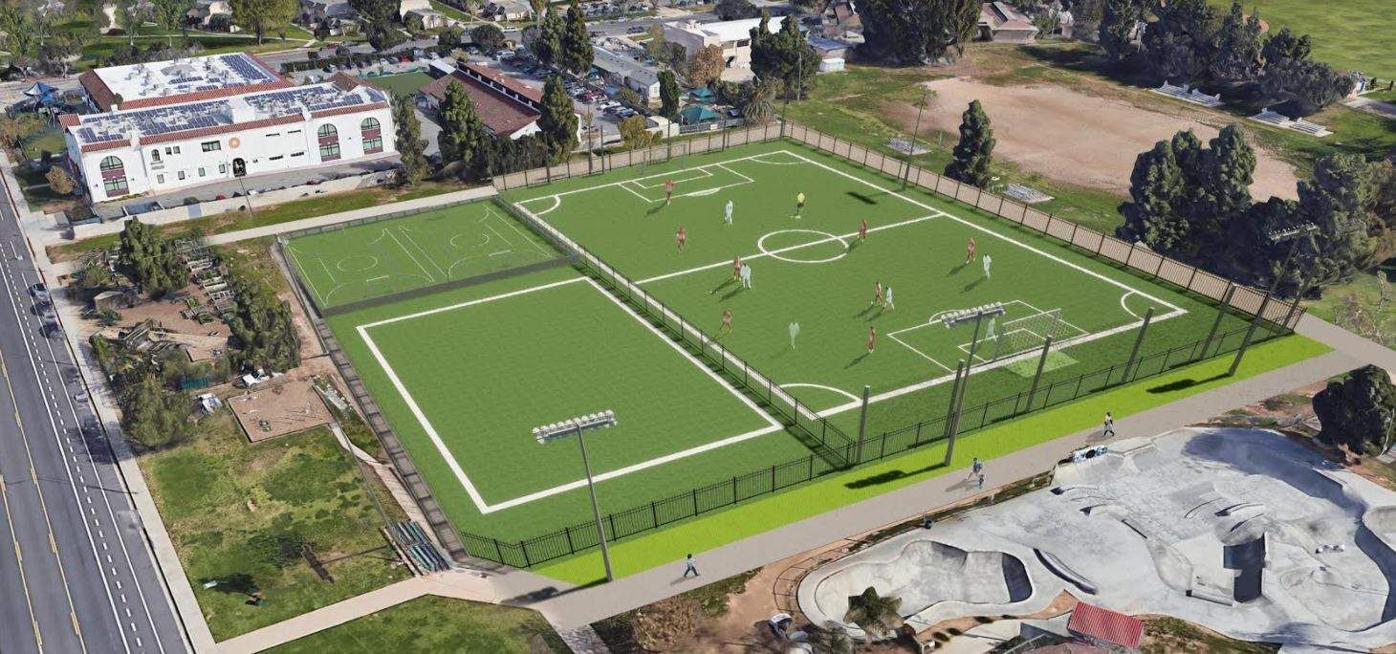 Belvedere park soccer field rendering
